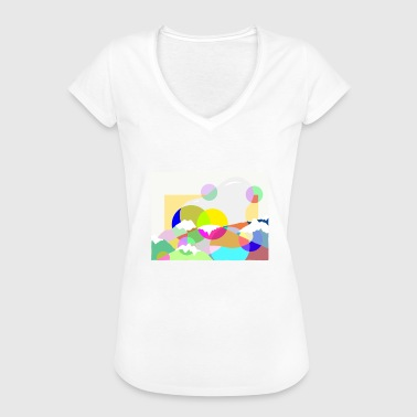 Artistic Artistic mountains - Vrouwen Vintage T-shirt