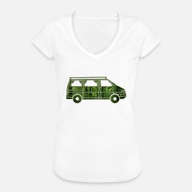 gordijn camperwagen met gordijnen bos cadeau vrouwen vintage t shirt