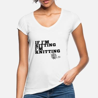 Sitting & Knitting - Women's Vintage T-Shirt