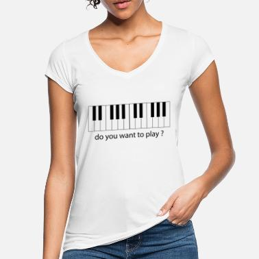 Kama Sutra play piano - Women's Vintage T-Shirt