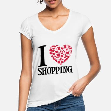 Frauen i love shopping - Frauen Vintage T-Shirt