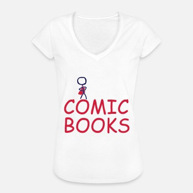 Comic Book comic books - Women's Vintage T-Shirt
