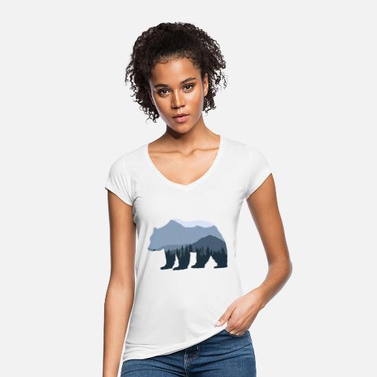 Bear T-Shirts - Forest Bear - Women's Vintage T-Shirt white
