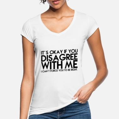 Humour DISAGREE, GIFT - Women's Vintage T-Shirt