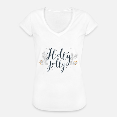 Holly Holly jolly - Dame vintage T-shirt