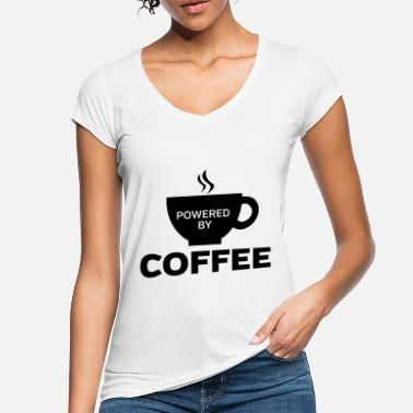 By Powered By Coffee - Vintage T-skjorte for kvinner