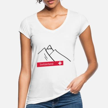 Alps Mountains Switzerland Switzerland Alps mountains - Women's Vintage T-Shirt
