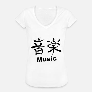 Kanji Music Hoodie kjole grå meleret