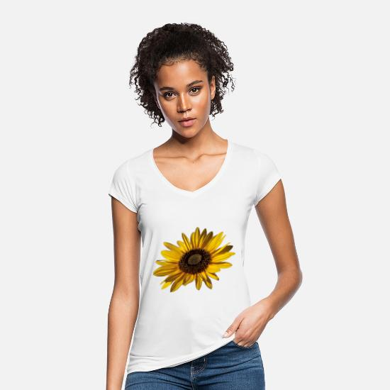 Nature Conservation T-Shirts - sunflower - Women's Vintage T-Shirt white