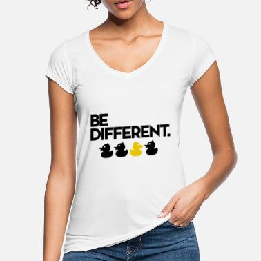 Ente Be Different Gelbe Quietsche Ente - Frauen Vintage T-Shirt