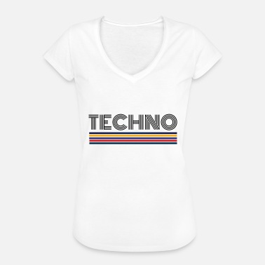 Dj Techno Party TECHNO MUSIC Techno DJ Party Party anwesend - Frauen Vintage T-Shirt
