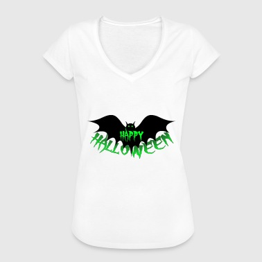 Happy Halloween, bat, vampire, Dracula - Women's Vintage T-Shirt