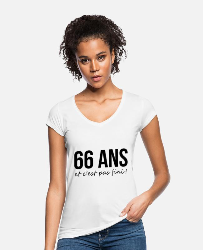 Design T-Shirts - 66 / Birthday / Sport Anniversaire Geburtstag Cool - Women's Vintage T-Shirt white