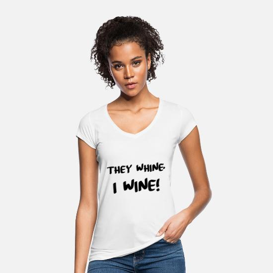 Weekend T-shirts - Wine - Vrouwen vintage T-Shirt wit
