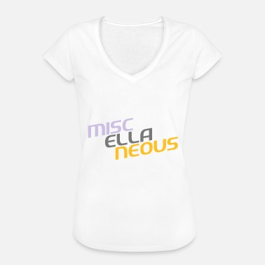 Miscellaneous miscellaneous english gift slogan colored motive - Women's Vintage T-Shirt