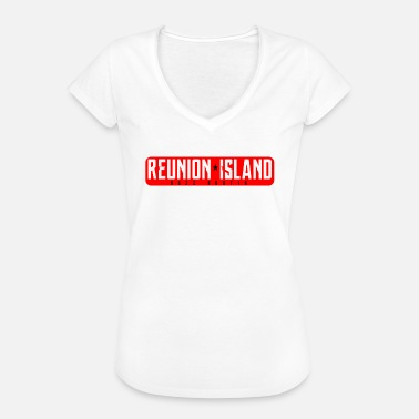 974 La Reunion Reunion Island Collection REUNION * ISLAND - T-shirt vintage Femme