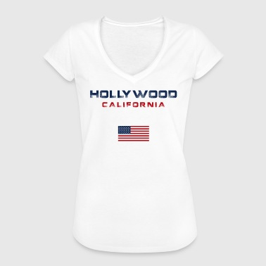 Hollywood California graphic - Women's Vintage T-Shirt