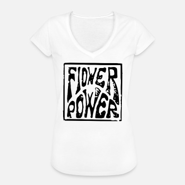 Hippie Flower Power flower power flowers power hippie - Women's Vintage T-Shirt