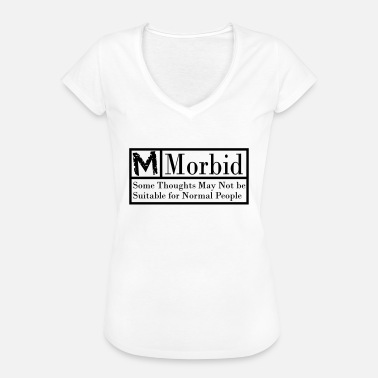 Morbid Morbid black warning label - Women's Vintage T-Shirt
