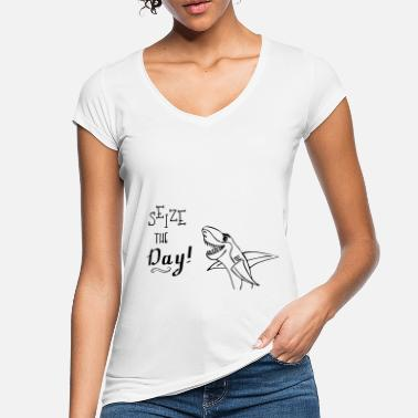Seize The Day Sharky the Shark - Seize The Day - Vintage T-shirt dam