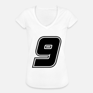 The Number Nine Number 9 black, number nine - Women's Vintage T-Shirt