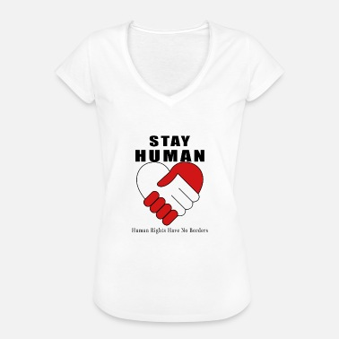 Vittorio We remain Human - Peace and Brotherhood - Women's Vintage T-Shirt