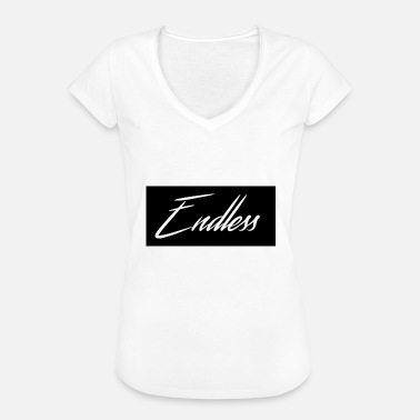 Back In Black Endless Svart - Vintage-T-skjorte for kvinner