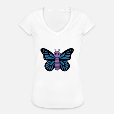 Folkevognstræf Animal Child Butterfly Cute Sød Gave - Dame vintage T-shirt