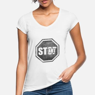 Start STOP START Start Art Start art - Women's Vintage T-Shirt