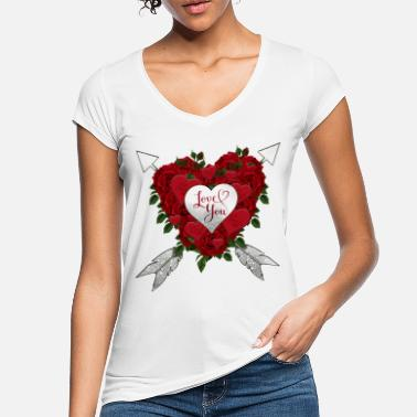 just married roses - T-shirt vintage Femme