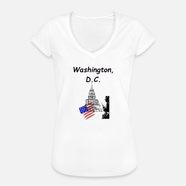 Washington Dc Washington, DC, Capitol, Estados Unidos - Camiseta vintage mujer