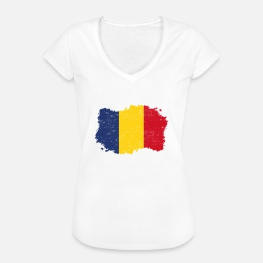 Romania Flag Roots Roots Flag Homeland Country Romania Png - Women's Vintage T-Shirt