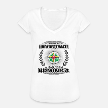 Dominica Vintage Never underestimate man Roots DOMINICA png - Women's Vintage T-Shirt