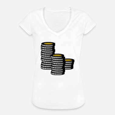 Chipleader Poker chipleader chips Money Cash - Vintage-T-shirt dam