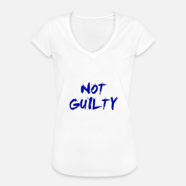 Guilty NOT GUILTY BLUE - Women's Vintage T-Shirt