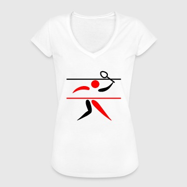 badminton federball player spieler sports sport6 - Frauen Vintage T-Shirt
