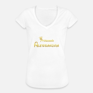 Alessandra Princess Princess QUEEN GIFT Aless - Vintage-T-shirt dam