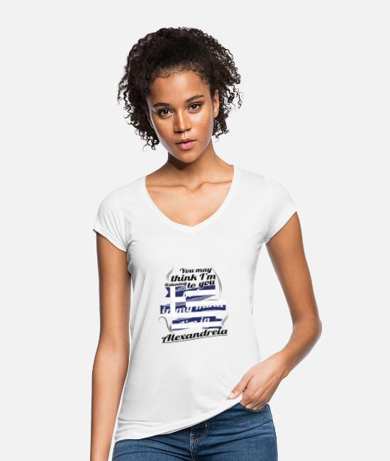 Travel T-Shirts - GREECE GREECE TRAVEL IN IN Greece Alexandre - Women's Vintage T-Shirt white