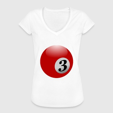 pool billards billiards snooker queue ball sport44 - Frauen Vintage T-Shirt