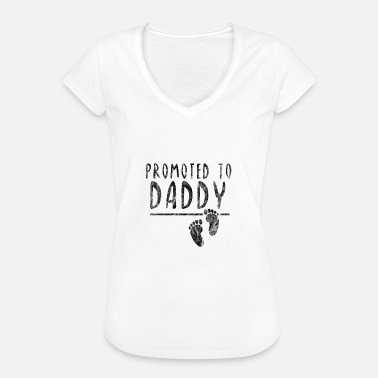 Paternity Promoted to Daddy Paternity Gift Idea Baby - Women's Vintage T-Shirt
