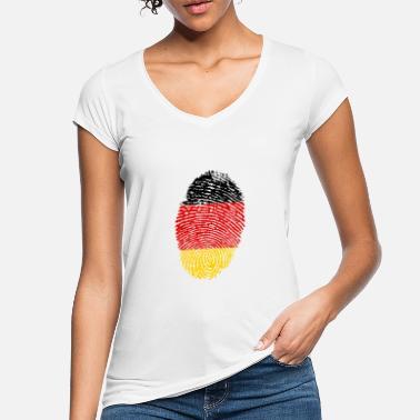 Deutschland Fußball WM Herren T-Shirt DNA Daumen Finger-Abdruck Flagge