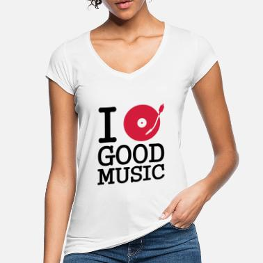 Turntable I dj / play / listen to - Women's Vintage T-Shirt