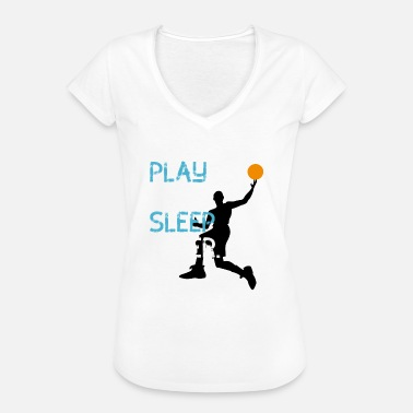 3punkt Basketball Spieler play now sleep later korb Wurf - Frauen Vintage T-Shirt