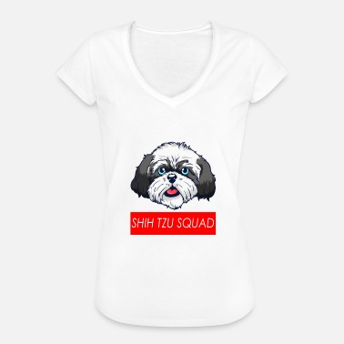 Dog Quotes SHIH TZU SQUAD - Dog - Quote - Gift - Women's Vintage T-Shirt