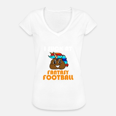 Pooping Fantasy I Suck At Fantasy Football Poop Unicorn Emoji - Women's Vintage T-Shirt