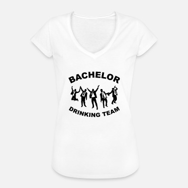 Bachelorparty Drinkende team BACHELORPARTY - Vrouwen Vintage T-shirt
