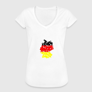(Germany Flaggs) - Women's Vintage T-Shirt