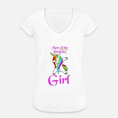 Mama Daughter Mama Dabbing Unicorn Daughter Birthday - Women's Vintage T-Shirt