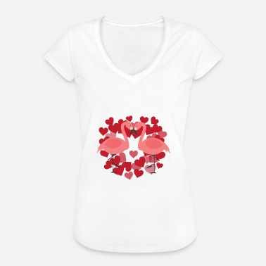 Officialbrands Flamingo - LOVE BIRDS - T-Shirt - Women's Vintage T-Shirt