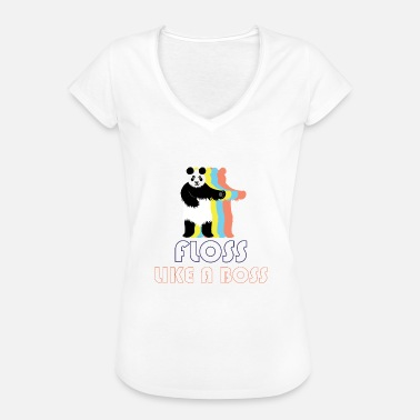 Boys Panda dental silk shirt design - Women's Vintage T-Shirt